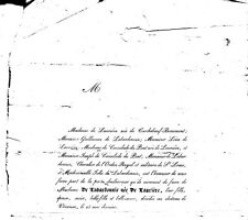 1837 Faire-part décès Mme Guillaume FAURICHON de LABARDONNIE née de LAURIÈRE