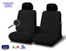 Coprisedili Fiat Panda Young e Fire set 2 fodere anteriori cotone nero auto