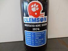 Clemson University 1974 Pepsi Cola Bottle Undefeated Season Coke