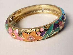Floral bangle bracelet ☆ easy on /off