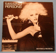 MISSING PERSONS RHYME & REASON LP 1984 ORIGINAL PRESS GREAT COND! VG++/VG+!!A
