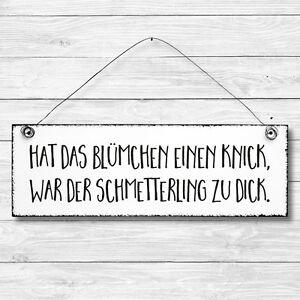 Deko Tür Wand Schild Holz Shabby SCHMETTERLING Vintage Geschenk Landhaus Retro