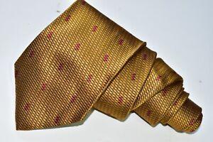 "ERMENEGILDO ZEGNA GOLD Men's Neck Tie W:3 3/4"" by L:61"" MADE IN ITALY"