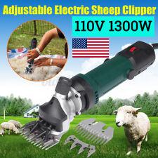 US 1300w 110v Animal Sheep Goat Clipper Electric Shearing Groomer Shear