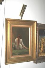 VICTORIAN PAINTING Rowland Holyoake 1855-1905 Listed Artist Nude RARE REDHEAD