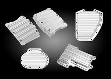 Arlen Ness 10 Gauge Chrome Rocker Box, Cam, Top & Side Cover for 2014-16 FLH/FLT