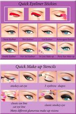 2in1 Quick Makeup Stencils Quick Eyeliner Stickies Original Uk2