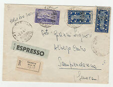 FRANCOBOLLI 1949 TRIESTE L.15 + 50X2 SU RACC/EX DIRETTA A SANPIERDARENA Z/3699