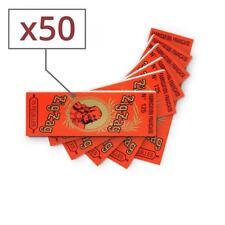 papier à rouler zig zag orange x 50