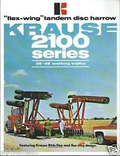 Farm Implement Brochure - Krause - 2100 - Flex Wing Tandem Disc Harrow (F3328)