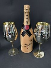 Moet Chandon Impérial Champagner 0,75l +Diamond Suit 12% Vol + 2 Gold Gläser