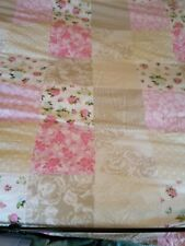 Beautiful Pink Patchwork Double Bed Duvet Set - Cover & Pillow cases