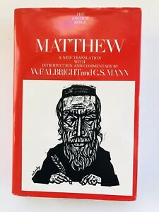 Matthew: A New Translation with Introduction and Commentary (The Anchor Bible…