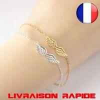 Bracelet Ailes ange angle romantique femme fille bijoux idée cadeau