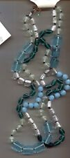 COLDWATER CREEK TURQUOISE AQUA GLASS necklace