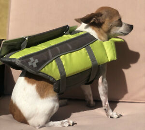 NWT Top Paw Dog Life Jacket Vest Green Size XS for 5-15 lb Dogs! Free Shipping!