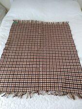 More details for vintage irish all wool blanket travel rug ireland
