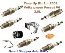 Tune Up Kit For 2001 Volkswagen Passat OE Spark Plug, Wire Set, Oil Filter, Belt