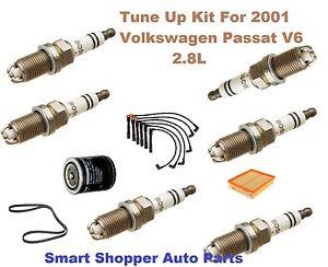 Tune Up Kit For 2001 Volkswagen Passat OE Spark Plug, Wire Set, Oil Filter, Belt