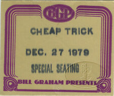 Cheap Trick 1979 Dream Police Tour Backstage Pass