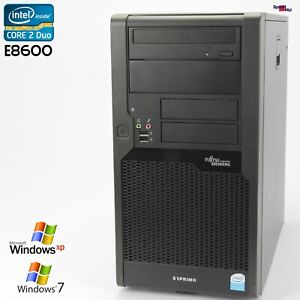 PC Computer Fujitsu Esprimo P5731 E STAR5 D3011 Core 2 Duo E8600 250GB RS-232 Ok