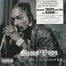 CD CARTONNE CARDSLEEVE 2T SNOOP DOGG feat R. KELLY THAT'S THAT NEUF SCELLE 2006