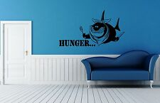 Wall Stickers Vinyl Decal For Bathroom Funny Hungry Shark ig1394