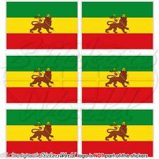 ETHIOPIA Former Ethiopian Lion of Judah Flag Mobile Cell Phone Mini Stickers x6