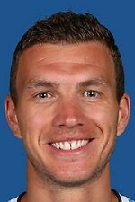 Football Photo>EDIN DZEKO Manchester City 2013-2014