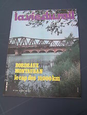 vie du rail 1980 1749 BORDEAUX MONTAUBAN VILLERUPT LONGWY AUDUN LE ROMAN