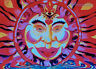 POSTCARD UV-Blacklight Fluorescent Glow-In-The-Dark Psychedelic Psy Goa Art Card