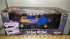 1/18 ERTL AMERICAN MUSCLE GREASE 1932 FORD HOT ROD BLUE with FLAMES yd