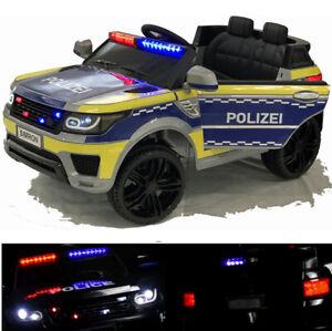 👮🏻 POLIZEI Kinderauto Funkgerät Kinderfahrzeug Kinder Elektroauto Gefedert DE