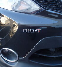 Nissan DIG-T chrome badge logo emblema Juke,Qashqai, DIGT nuovo new S/A decal