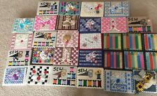 Plastic Canvas Holiday Vintage Craft Boxes Lot Of 30 Jewelry Box Needle Point