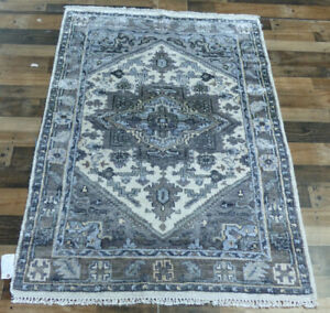 4'x6' New Hand knotted Bamboo silk & wool Oushak Oriental Modern Antiqued Rug