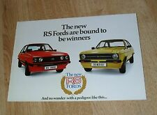 Ford Escort RS - Rallye Sport Brochure 1976 - Escort RS2000 & RS Mexico