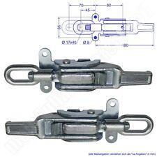 2x Exzenterspannverschluss Bordwandverschluss - kurzer Griff