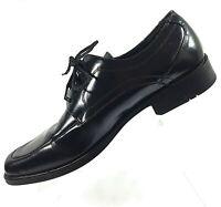 STACY ADAMS Mens Dress Shoes Sz 8M Black Leather Lace Up Oxfords Classic Moc Toe