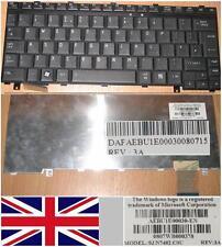 CLAVIER QWERTY UK TOSHIBA U300 U305 AEBU1E00030-EN 9J.N7482.C0U Noir
