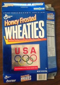 Honey Frosted Wheaties 1996 USA Olympics Collectors Edition Cereal Box
