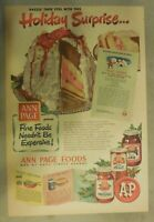 A&P Food Ad: Ann Page Jams, Jelly and Preserves from 1950 Size: 11 x 15 inches