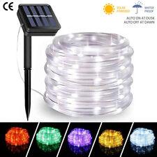 Solar Lichterkette 50-200 LED Solar Lichtschlauch Aussen Draht Garten Deko