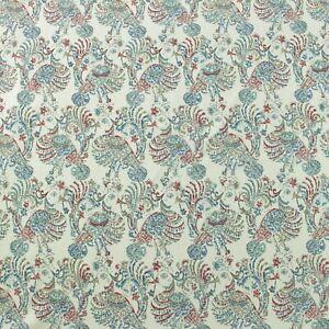 """JOHN ROBSHAW DURALEE RUWA MULTI RED BLUE BIRD HIGH END FABRIC BY THE YARD 54""""W"""
