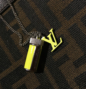 Louis Vuitton Fluo Necklace Charms Yellow lv