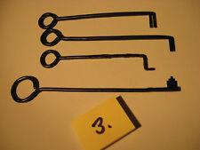 Antike Schlüssel Handarbeiten 4 Stück Truhen oder Kastenschlüssel Nr.3.Old key