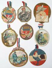 8 badges décoration pendentif  WW1 1914-1918 1ere guerre mondiale poilu
