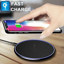 Qi Wireless Charger Pad LED Induktive Ladegerät Drahtlos Schnell Ladestation Mat