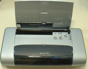 HP Deskjet 450 Mobile Inkjet Printer C8111A With Power Adapter.