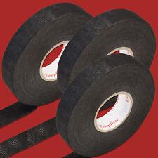 3x 25m Coroplast KFZ Gewebeband schwarz 19mm breit PET Vlies Gewebe Klebeband